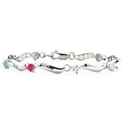 Engraved Bracelet with 1-8 Stones
