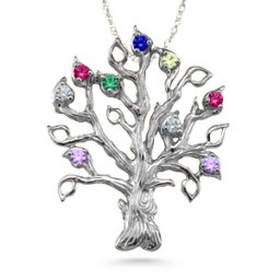 Family Tree 3-14 Stones Pendant