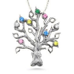 Family Tree 3-14 Stones Pendant