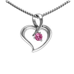 Twist Petit Heart Pendant