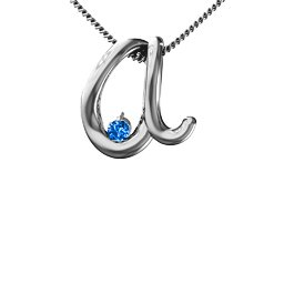 A to Z Initial Pendant with Birthstone