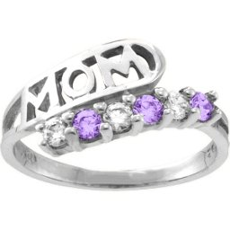 """Cherish"" MOM Cut-out 2-6 Stones Ring"