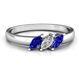 Grand Marquise Trio Ring