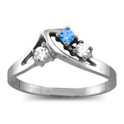 1-5 Stone Crest Ring
