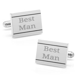 Engravable Etched Frame Cufflinks