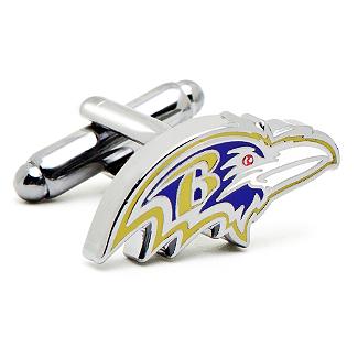NFL- Baltimore Ravens Head Cufflinks