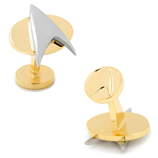 Star Trek - Two Tone Delta Shield Cufflinks