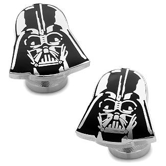 Star Wars - Recessed Matte Darth Vader Head Cufflinks