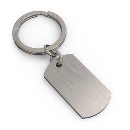 Engravable Dog Tag Keychain