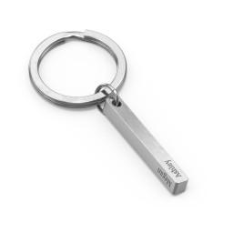 Engravable 3D Bar Keychain