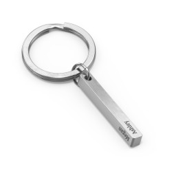 Engravable 3D Bar Keychain