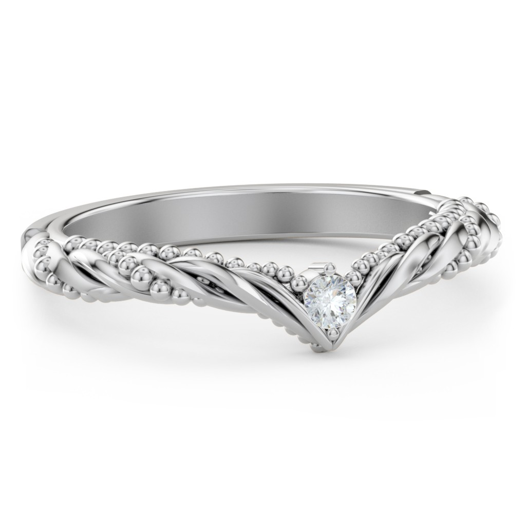 It is just a picture of The Rita Diamond Wedding Band Jewlr