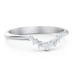 Graduated Diamond Tiara Wedding Band Ring