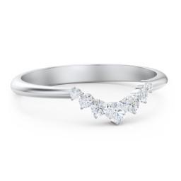 Graduated Diamond Tiara Wedding Band Ring