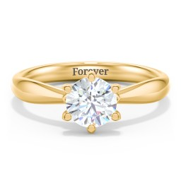 Classic Diamond Solitaire with 6 Prong Setting
