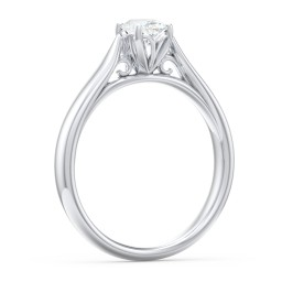 Classic Solitaire Engagement Ring with Cathedral Setting