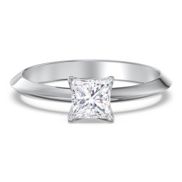 Classic Knife Edge Solitaire Diamond Engagement Ring