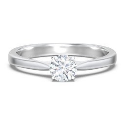 Classic Solitaire Engagement Ring with White Gold Setting