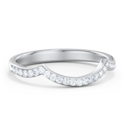 Arched Diamond Accent Wedding Band
