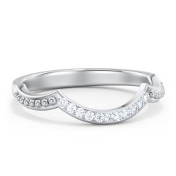 Diamond Accent Arched Wedding Band