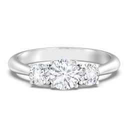 Classic 3-Stone Diamond Engagement Ring
