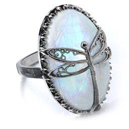 Murdoch Mysteries - Moonstone Dragonfly Ring