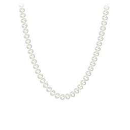 Classic 6mm Freshwater Pearl Necklace with Sterling Silver Clasp