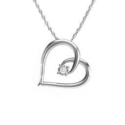 10K Gold Fancy Heart Pendant with Diamonds