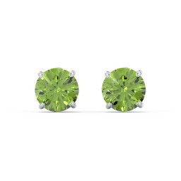 Half Carat Solitaire Stud Earrings