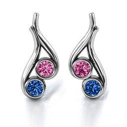 Multi Stone Raindrop Earrings