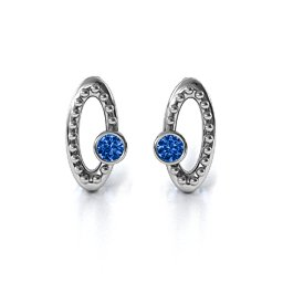 Beaded Orbital Stud Earrings