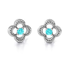 Shimmering Clover Earrings