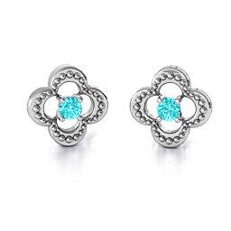 Shimmering Clover Earrings