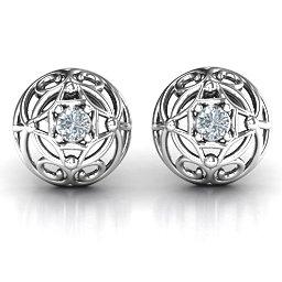 Elegant Filigree Dome Earrings