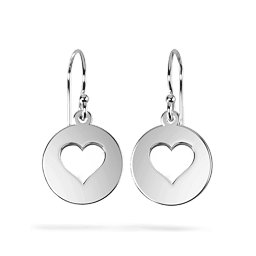Shape Of My Heart Cutout Disc Earrings