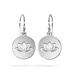 Lovely Lotus Cutout Disc Earrings
