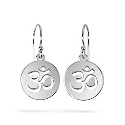 Om Symbol Cutout Disc Earrings