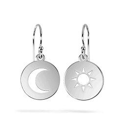 Sun And Moon Cutout Disc Earrings