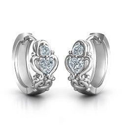 Heart Huggie Hoop Earrings