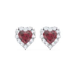 Halo Heart Stud Earrings