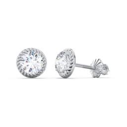 Twisted Rope Diamond Stud Earrings - 1/3 ct. tw. (0.33 ct. tw.)
