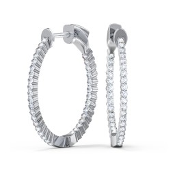 Lab Grown Diamond Large Hoop Earrings - 1 ct. tw. (1.0 ct. tw.)