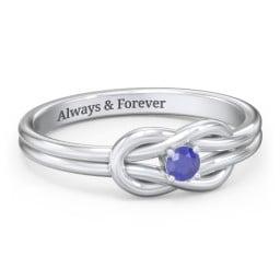 Birthstone Love Knot Ring