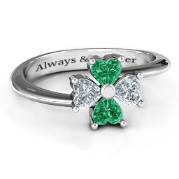Four Heart Clover Ring