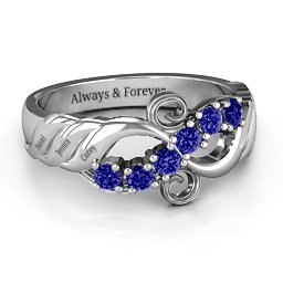 Ariel Wave and Swirl Ring