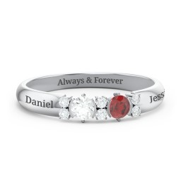 Promise Rings Personalized With Gemstones And Engravings Jewlr