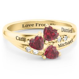 Heart Cluster Ring with Accents