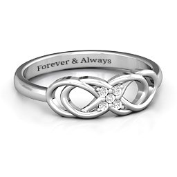 Infinity Knot Ring with Accents