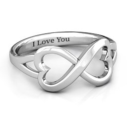 Simple Double Heart Infinity Ring