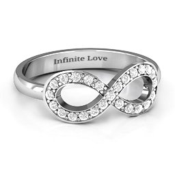 Accented Infinity Ring